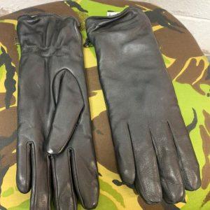 New Genuine Austrian Army Black Leather Gloves