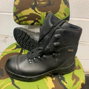 Genuine German Baltes Sympatex Lined Black Leather Boots