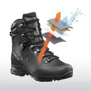 Haix goretex lined black leather boot