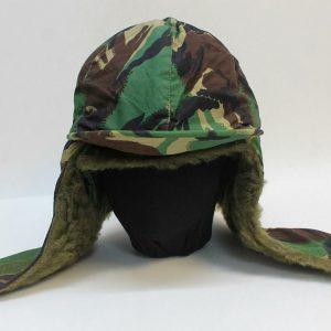 100% Genuine British ARMY Falklands DPM WOODLAND Camo Cold Weather Field Hat